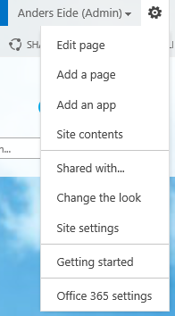01 - Open Site Settings