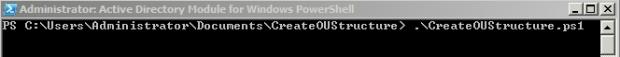 ExecutingCreateOUStructurePs1