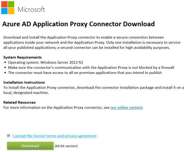 AzureADApplicationProxyConnectorDownload